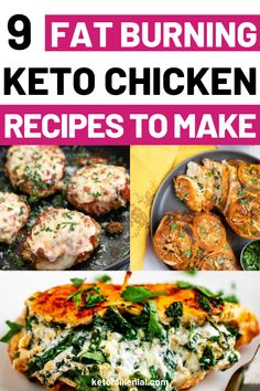Quick keto chicken dinners that are easy to make and crazy-delicious! Try some easy ketogenic chicken recipes that are filling, satisfying and will help you stick to the keto diet even on the busiest of weeknights! Best Low Carb Recipes, Keto Crockpot Recipes, Low Carb Dinner Recipes, Ketogenic Recipes, Lunch Recipes, Diet Recipes, Healthy Recipes, Ketogenic Diet, Keto Dinner