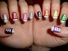 This is a nerdy but cute way of showing your personality. I would have this nail art on my nails all the time if I could do it.
