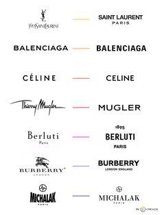 Minimalistic logo design of famous brands. Bigger is not better. Saint Laurent Paris, Cool Logo, Famous Brands, Minimalist Design, Logos, Minimalistic Logo, Logo Design, Company Logo, Stationery