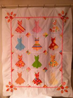 The Cutest Ever Hand Appliqued Quilt Top 46x56 by VAMountainQuilts, $75.00