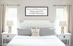 Let's stay in bed - wood sign - above bed sign - master bedroom wall decor - The sign pictured measures signs come with hanging hardware. Bedroom Signs, Wood Bedroom, Bedroom Decor, Bedroom Ideas, Bedroom Inspo, Large Bedroom, Nursery Signs, Gray Bedroom, Nursery Room