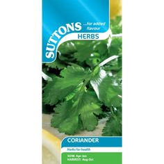 Herb Seed - Coriander - Suttons Seeds and Plants