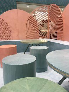 Bethan Gray designs an oasis of calm for Frankfurt's Ambiente 2017 – News – Frameweb Commercial Design, Commercial Interiors, Forma Circular, Interior Decorating, Interior Design, Decorating Tips, Co Working, Cafe Interior, Cafe Design
