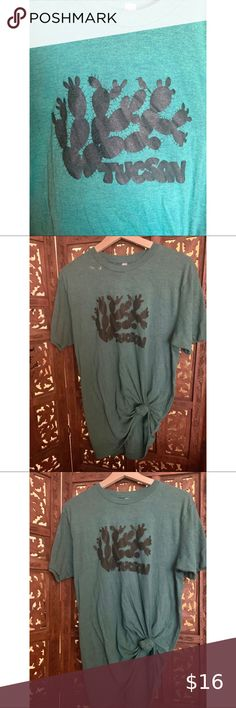 Tucson T-shirt Extremely soft & comfy!  I tied a knot in the front but f course you can take that out! Only worn once. American Apparel Tops Tees - Short Sleeve American Apparel Tops, Take That, Comfy, Best Deals, Tees, Womens Fashion, Sleeves, Mens Tops, T Shirt