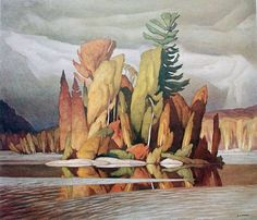 Casson Canadian, Group of Seven. Little Island Group Of Seven Artists, Group Of Seven Paintings, Canadian Painters, Canadian Artists, Paul Klee, Landscape Art, Landscape Paintings, Watercolor Landscape, Watercolor Paintings