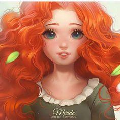 Mérida by numyumy Kawaii Disney, Disney Nerd, Disney Fan Art, Disney Girls, Brave Disney, Merida Disney, Disney And More, Disney Love, Disney And Dreamworks
