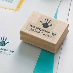 Personalised 'Masterpiece By' Stamp