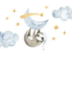 Sleeping Sloth and Panda - Baby Shower Invitation Template (Free) Illustration Inspiration, Baby Illustration, Panda Baby Showers, Baby Mobile, Baby Sloth, Baby Wallpaper, Foto Baby, Baby Shower Invitation Templates, Baby Kind
