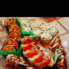 SushI This us one I my favorite foods.  Ivan eat this everyday and not get tired of it. .  Yunmmo