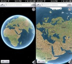Turn iOS Maps into a Virtual Globe by Zooming Out