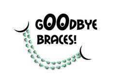 Goodbye Braces greeting card by Pamela Jorgensen