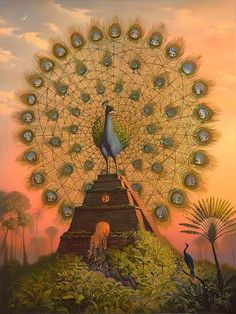 "Peacock's Garden: Vladimir Kush (1965- ) ""Sacred Bird of Yucatan"""