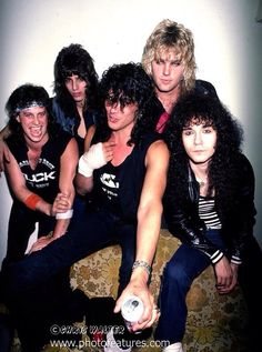 EARLY photo of Ratt. Gee, I wonder if they're wasted?
