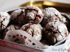 Crinkles Recipe, American Chocolate, Chocolate Crinkles, Queen, Charlotte, Cookies, Desserts, Christmas, Food