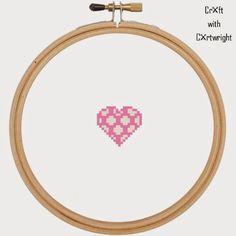 Free spotty heart cross stitch pattern PDF #valentines