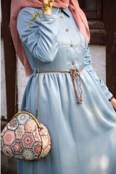 Modest Fashion Hijab, Abaya Fashion, Muslim Fashion, Fashion Dresses, Hand Embroidery Dress, Muslim Wedding Dresses, Sleeves Designs For Dresses, Abaya Designs, Feminine Dress