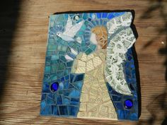 mosaic  angel / on wood 2014 Lizzy A.