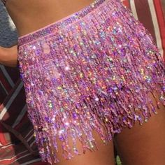 Woman Skirts Befree Vestidos Sequin Belly Dancer Costume Tassel Wrap Club Mini Clothes Size One Size Color A Tassel Skirt, Fringe Skirt, Tassels, Belly Dancer Costumes, Rave Costumes, Beach Skirt, Sequin Shorts, Party Skirt, Rave Outfits
