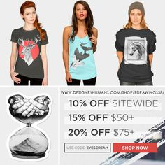 👀 Check out this offer on DesignByHumans! Use promo code: EYESCREAM ➡ http://www.designbyhumans.com/shop/eDrawings38/ 👀  #clothing #clothes #apparel #tshirt #tops #sale #promo #offer #deals #hoodies #tanktop #stickers #mugs #phonecase #artprints #art #design #shop #gifts #drawing #animals #deer #horse #designbyhumans #edrawings38