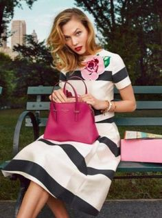 Karlie Kloss for Kate Spade Campaign by Emma Summerton. #fashionista #womensfashion