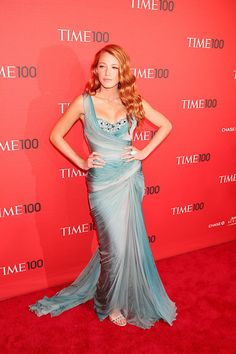 Blake channeled her inner mermaid with a Zuhair Murad chiffon gown that featured a beaded bodice for the Time 100 Gala.