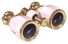 Lascala Optics Hamlet Opera Glasses, White Body, Golden Rings The Hamlet Opera Glasses offer more magnifying power and brighter images than most opera glasses on the market today Binoculars For Kids, Golden Ring, White Bodies, Pink Eyes, Digital Camera, White Gold, Glasses, Antiques, Vintage
