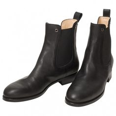 Black Leather Boots LONGCHAMP (280 AUD) ❤ liked on Polyvore