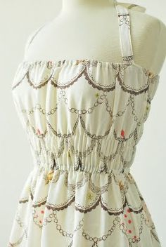 DIY Dress tutorial. Totally making this out of a vintage bedsheet.