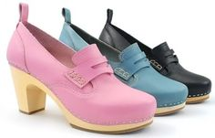 Women's Shoes Hasbeens New Preppy Leather Loafer Wooden Fashion 444 Clogs Spring 2011 Pictures