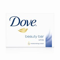 Dove bar of soap to wash face..