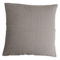 Stone washed linen cushion - Soft Taupe
