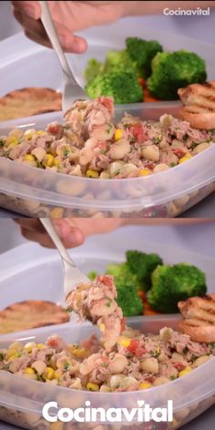Ensalada de coditos con atún For your children's lunch or to take you to the office, this recipe for tuna coditos salad is ideal, as well as very easy to prepare. Menu Leger, Mexican Food Recipes, Dinner Recipes, Feta Salat, Deli Food, Cooking Recipes, Healthy Recipes, Cooking Eggs, Cooking Utensils