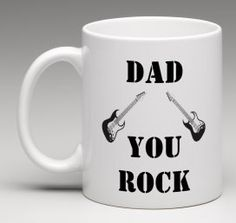 #Father'sDay gift Dad You Rock Dad Guitar mug Happy by #BeesMugShop #etsyuk #gifts