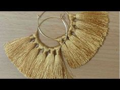 DIY Silk thread Tassel earring - YouTube