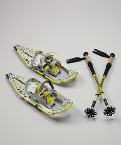 Another great find on #zulily! Yukon Charlie's Lime & White 25'' Pro-Guide V Snowshoe Kit - Women by Yukon Charlie's #zulilyfinds
