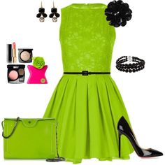 Lime Daydress Outfit created by tsteele