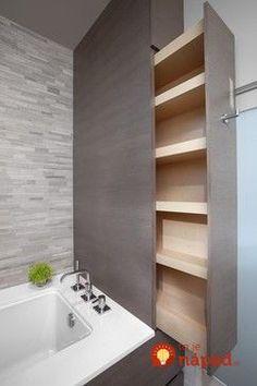 Perfektné nápady, ako v kúpeľni skryť bojler, práčku a geniálne vyriešiť nedostatok úložného priestoru!