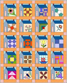 great idea for housequilt