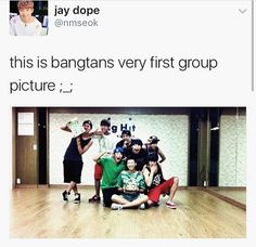 BTS's first group photo