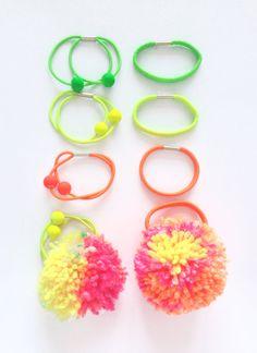 Pom Pom Hair Decor Elastic Band / Ponytail Hairband / by HFCO, £2.00