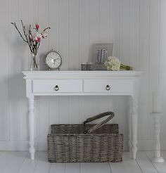 entryway? bowl for keys and fabric baskets for shoes/gloves? then a coat rack next to or above