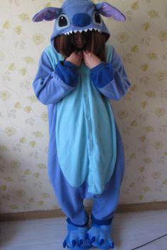 Adult Animal KIGURUMI Pajamas Costume Cosplay Pyjamas Blue Stitch Pink Stitch   eBay