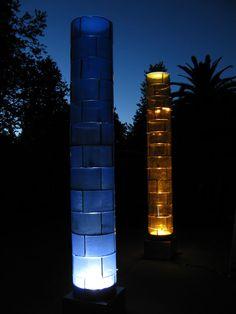 """Mark Abilgaard, """"Light Columns"""" - 2009, 123""""x18""""x18"""""""