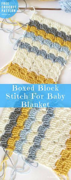 Baby Blanket Boxed Stitch Free Crochet Pattern   My Hobby