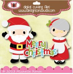 Designs on Cloud 9 Santa and the Mrs. SVG and cutting files