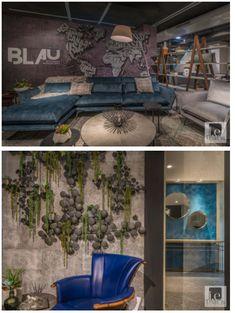 Showroom Interior Design, Furniture Showroom, Design Firms, E Design, Dark Colors, Colours, Grey Palette, Open Layout, Cozy Corner