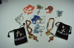 11 Vintage to Modern Rosary Lot Including Beaded Wood Multi-Colors Very Nice