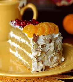 Pumpkin-Citrus Cake One of our the most loved pumpkin desserts. Simple to make, yet elegant and colourful. Pumpkin Dessert, Pie Dessert, Dessert Recipes, Dessert Ideas, Muesli Recipe, Citrus Cake, Homemade Pastries, Pie Cake, Small Cake