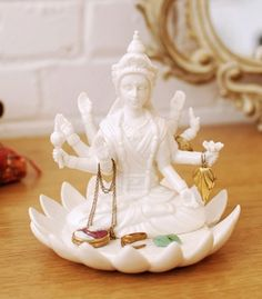 Kalyana Jewerly Holder.  Beautiful, auspicious and blessed are just some of the words that describe the graceful Kalyana. You too will be blessed as Kalyana sits atop your vanity, watching over all your treasured pieces.