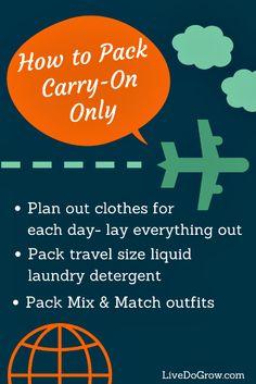 How to Pack So That You Won't Need a Bellhop! Carry-on tips from @Elena Kovyrzina Kovyrzina Sonnino Live.Do.Grow.
